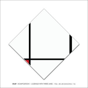 MONDRIAN B169 KOMPOSITION I LOZENGE WITH THREE LINES 1926 FRANCESCO VISALLI