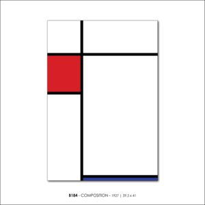 MONDRIAN B184 COMPOSITION 1927 FRANCESCO VISALLI