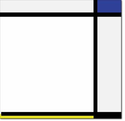 """R14 - B174 Schilderij N.2 """"mit Blau, Gelb, Schwarz und verschiedenen hellgrauen und weissen Tönen"""" - 1926"""