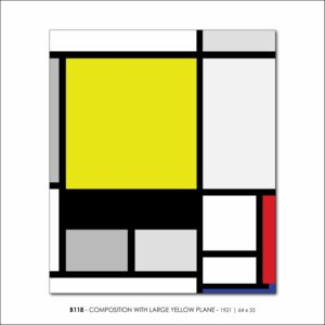 MONDRIAN B118 COMPOSITION WITH LARGE YELLOW PLANE 1921 V4b FRANCESCO VISALLI