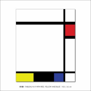 MONDRIAN B158 TABLEAU N.VI WITH RED, YELLOW AND BLUE 1925 V5 b FRANCESCO VISALLI