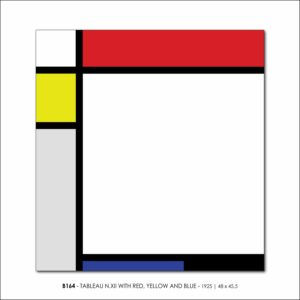 MONDRIAN B164 TABLEAU N.XII WITH RED, YELLOW AND BLUE 1925 V3 FRANCESCO VISALLI