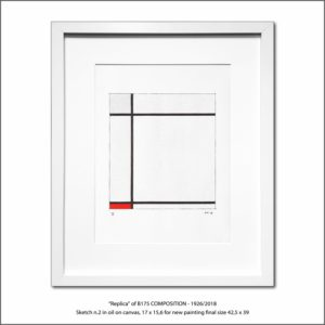 The Disappeared Mondrians Sketches Gallery40 Francesco Visalli Piet Mondrian