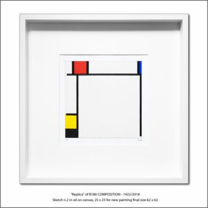 The Disappeared Mondrians Sketches Gallery44 Francesco Visalli Piet Mondrian