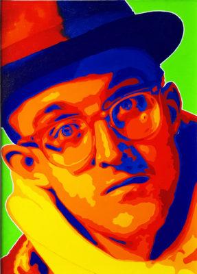 02 Keith Haring Pop Portrait Olio su Tela 46x33 by Mr Bold 2020