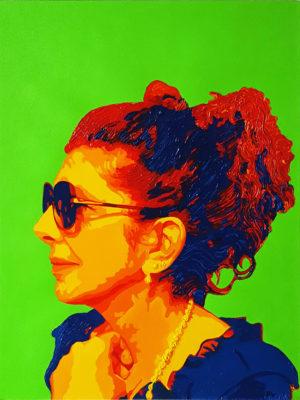 04 Rita Pop Portrait olio su tela 40x30 2020