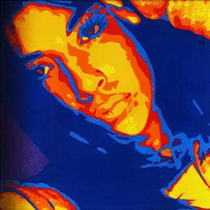 05 2 Chiara Pop Portrait 2 olio su tela 20x20 2020