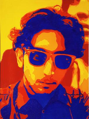 08 Federico Pop Portrait olio su tela 40x30 2020