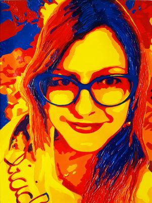 09 Isabella Pop Portrait olio su tela 40x30 2020