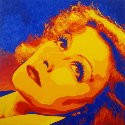 10 Greta Garbo Pop Portrait olio su tela 50x50 2020