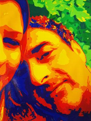 10 Khaled Pop Portrait olio su tela 40x30 2020