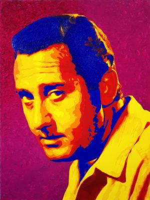 11 Alberto Sordi Pop Portrait 2 olio su tela 80x60 2020