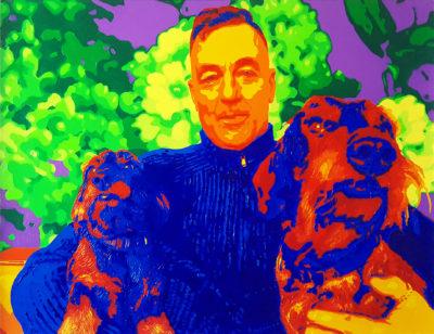11 Nina Mauro Lucio sx dx Pop Portrait olio su tela 50x65 2020
