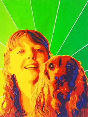 12 Adele Della Sala Pop Portrait olio su tela 40x30 2020