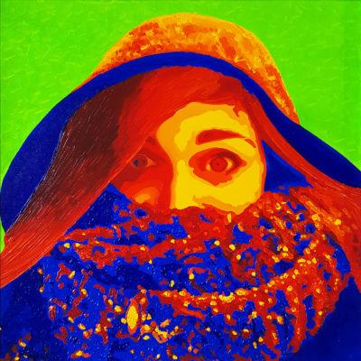 13 Alessia Pop Portrait olio su tela 40x40 2020