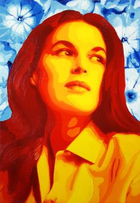 13 Silvana Mangano Pop Portrait olio su tela 55x38 2020