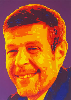 14 Tony Pop Portrait olio su tela 40x30 2020