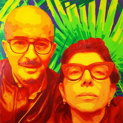 15 Rita e Andea Pop Portrait olio su tela 70x70 2020