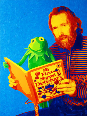 16 Jim Henson Pop Portrait olio su tela 80x60 2020