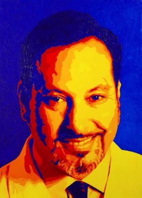 18 DRYM POP Yuri Pop Portrait olio su tela 57x41 2020