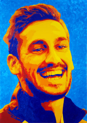 18 Davide Astori Pop Portrait olio su tela 70x50 2020