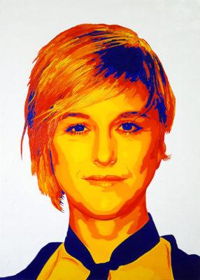 19 Nadia Toffa Pop Portrait olio su tela 70x50 2020