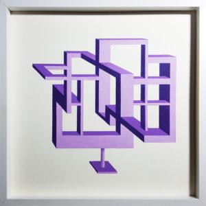 62 60 scultura impossibile 50x50 violet