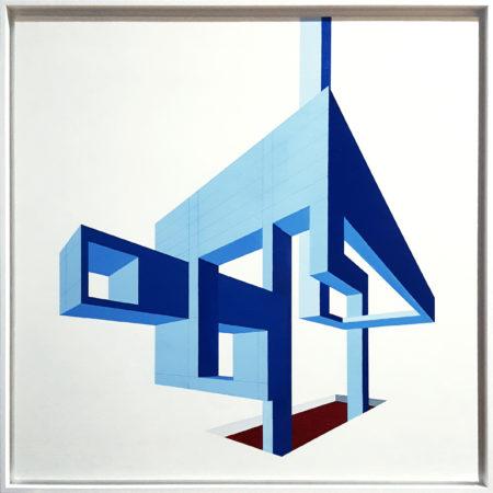 64 Architettura Impossibile 1 olio su tela 80x80