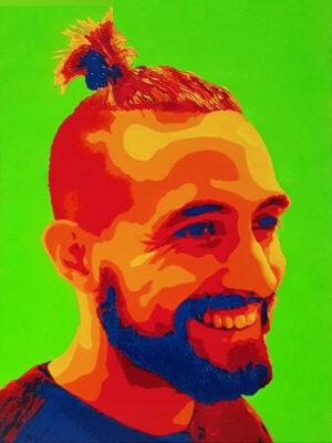 21 Piero Pop Portrait olio su tela 40x30 2020