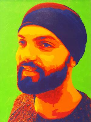 23 Gianluca Pop Portrait olio su tela 40x30 2020