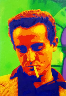23 Vittorio Gassman 2 Pop Portrait olio su tela 55x38