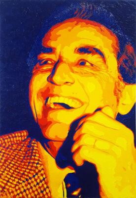 24 Vittorio Gassman 1 Pop Portrait olio su tela 55x38