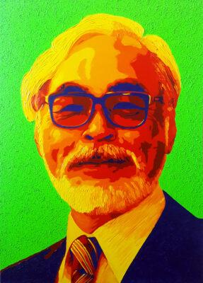 26 Hayao Myazaki Pop Portrait 1 olio su tela 46x33 2020