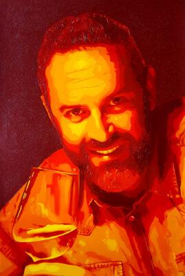26 Rubén Pop Portrait olio su tela 61x41 2020 2