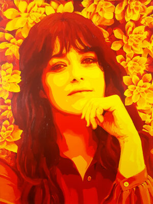 28 Valentina Lodovini Pop Portrait 1 Olio su tela 80x60 2020