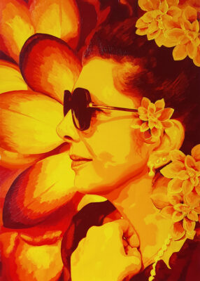 28 Rita Pop Portrait 2 oil on canvas 70x50 2021