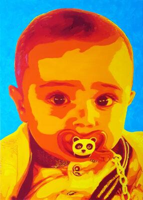 30 Filippo (Ciccio Puzzo) Pop Portrait oil on canvas 455x325 2021