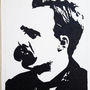 31 Friedrich Nietzsche Pop Portrait 1 detail A