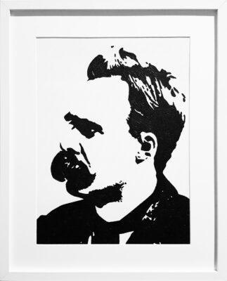 31 Friedrich Nietzsche Pop Portrait 1 olio su tela 40x30 2020