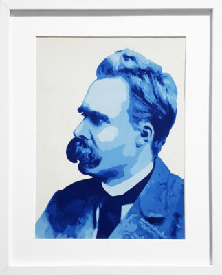 32 Friedrich Nietzsche Pop Portrait 2 olio su tela 40x30 2020