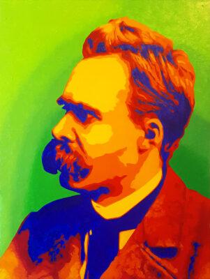 33 Friedrich Nietzsche Pop Portrait 3 olio su tela 605x455 2021