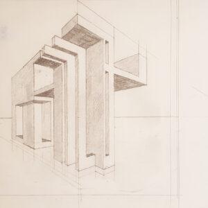 74 bozzetto 3 matita su carta 31x41