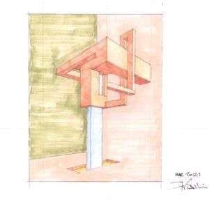 77 Bozzetto 2 matita e pennarelli su carta 21x30