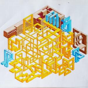 impossible is possible bozzetto 1 china e pennarelli su carta 30x34