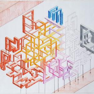 impossible is possible bozzetto 2 china e matite su carta 30x36